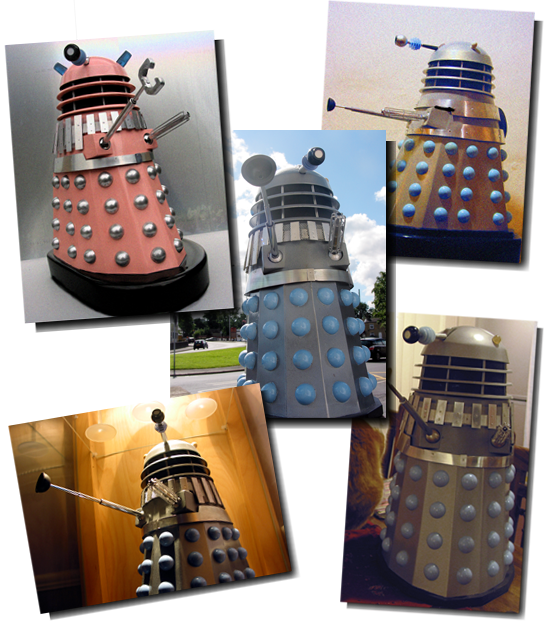 Model Daleks, Often mistaken for full size versions.