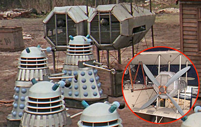 Vimy engines used in Dalek movie