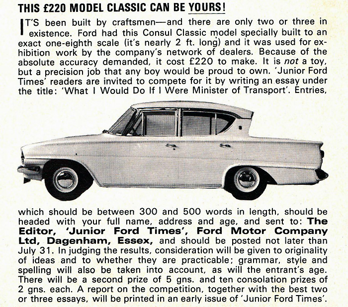 Ford newspaper clipping