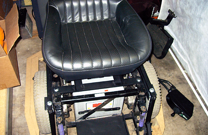 Power chair seat, ready for Dalek