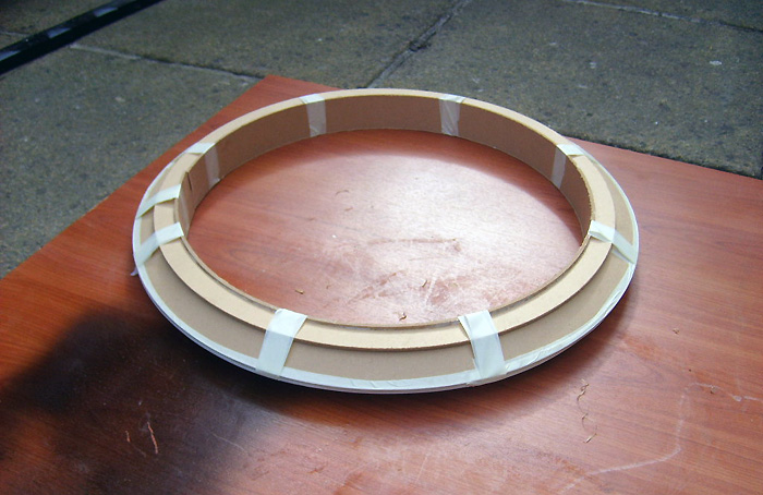 Assembled neck ring.