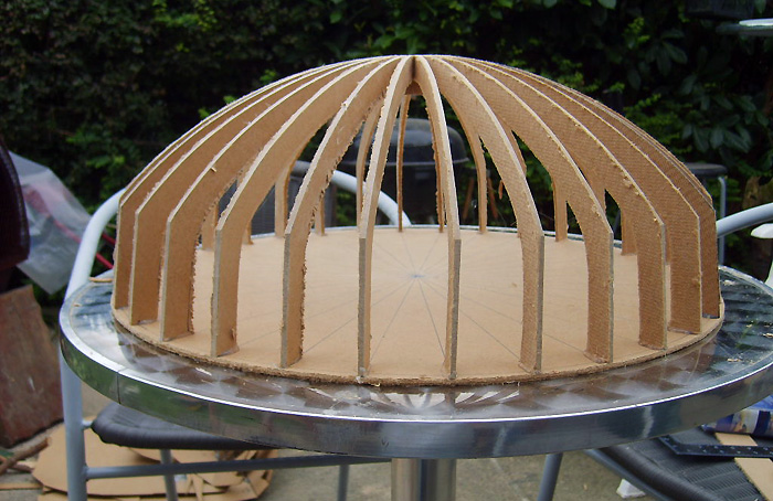 Dome construction method.