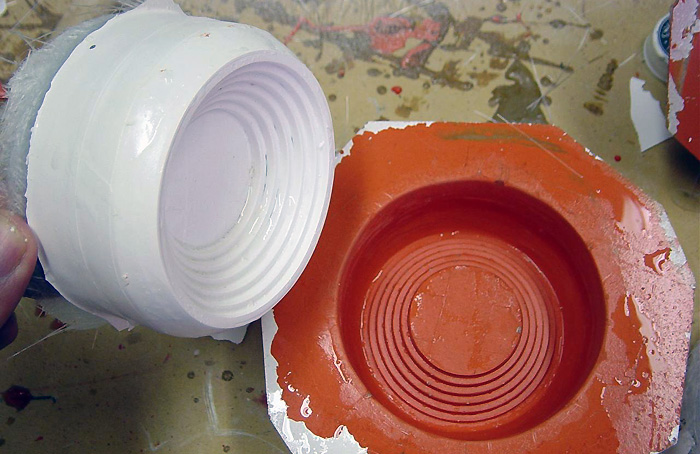 The front of the Dalek eye, straight from the mould.