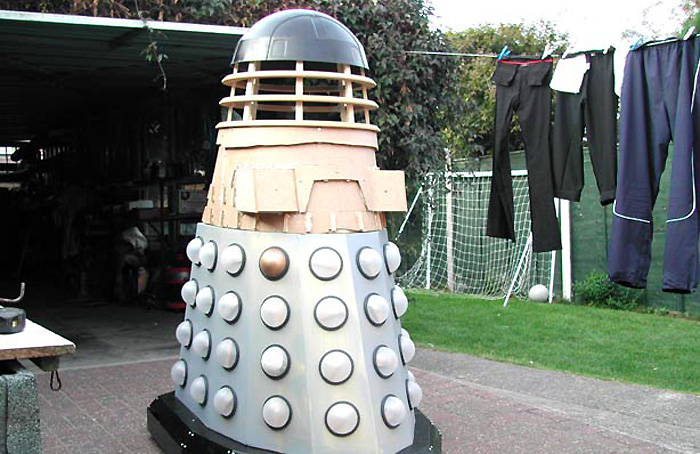 Test assembly of Dalek sections.