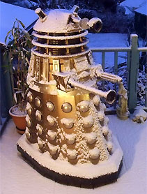 Tanky, Cliff's copper new series Dalek garden sculpture