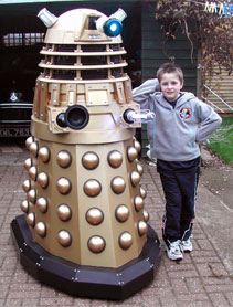 Steve and Liam's newly finished Dalek.